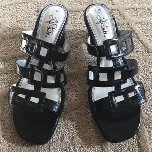 Life Stride Black Sandals